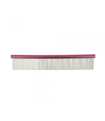 Groomers Combination Comb 25cm Pink